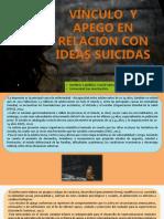 VINCULO  Y APEGO EN RELACIÓN CON IDEAS SUICIDAS