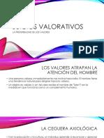 juicios valorativos y jerarquía de valores