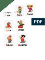 10 verbos dibujo