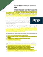 CAP 4. Funciones y responsabilidades del departamento de mantenimiento