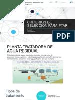 Criterios de selección para ptar(1)