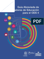 Guía Abreviada de indicadores de educación para el ODS 4
