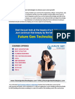 Consider Future Gen Technologies to Enhance Your Career Growth.docx