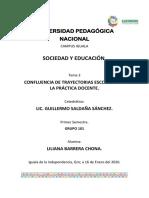 tema 3 confluencia de trayectorias escolares en la practica docente