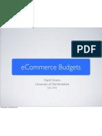 eCommerce Budget Slides