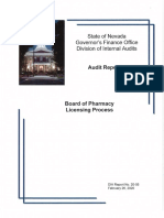 Board of Pharmacy Audit