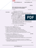 MUHS_BPT_2016_4_Summer_B.P.Th_51411 Musculoskeletal Physiotherapy_FirstRanker.com