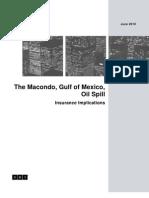 2010 Macondo Oil Spill Insurance Implications
