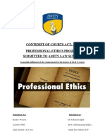 Professional Ethics Project