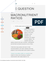 The Question Of Macronutrient Ratios _ Paleo Leap