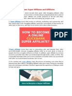 Differences Between Super Affiliates and Affiliates