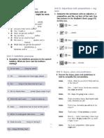 Units 4 and 5 Grammar Practice