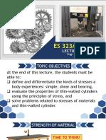 ES 323 & MECH 03 LECTURE 2 - STRESS