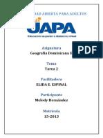 Tarea 2 Geografia Dominicana II (Melody)