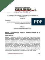 Reforma LOCTI - Texto para la 2da discusión - diciembre 2010 - Asamblea Nacional Venezuela