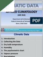 Climatic Data measurement