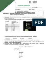 EXAMEN DIAGNÓSTICO TERCERO DE SECUNDARIA