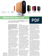 """Waste Not, Want Not"" (article on recycling electronic waste for iChemE's TCE Today/the Chemical Engineer)"