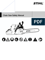 Manual for chain saw safety