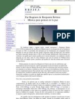 Arkus, Mario - El War Requiem de Britten Musica Para Pensar en La Paz