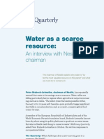 Water as Scarce Resource