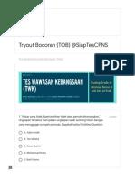 Latihan Soal TWK CPNS 2019
