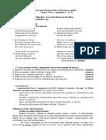 model teza cl 8a limba romana