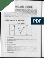 Russian Lyric Diction (Belov From Castel Vol)