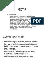 Motif Dan Motivasi