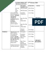 NFCS ORIENTATION WEEK program
