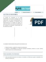 GESTIÓN DE INVENTARIOS - logística y abastecimiento
