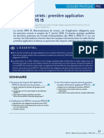 Première application Norme IFRS 15