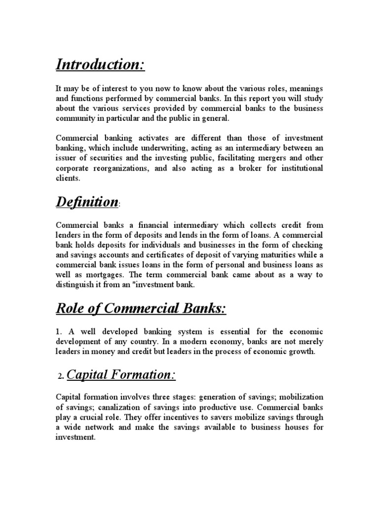 what are the different services provided by a bank