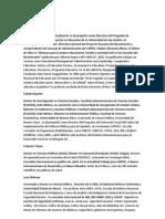 Seminario Internacional de Regionalización en la Provincia de Bs. As. - CV de Expositores