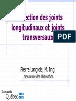 Confection des joints longitudinaux et transversaux_Transport Québec