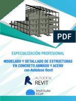 BROCHURE MODELADO Y DETALLADO DE ESTRUCTURAS EN CONCRETO ARMADO Y ACERO CON AUTODESK REVIT