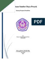 Proposal Penelitian_Pemerataan Sumber Daya Proyek
