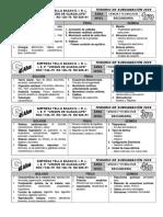 TEMARIO NO PRA PRUEBA DE SUBSANACIÓN DE CTA 2 020 - 1RO A 4TO