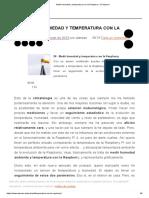 Medir humedad y temperatura con la Raspberry - El atareao