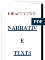 Didactic Unit Narrative Texts