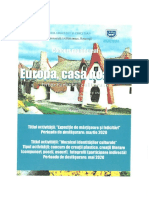 Afiș-Regulament-Acord-Fișă de înscriere-Europa, casa noastră-interferențe culturale