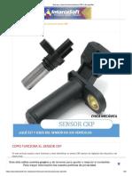 Que es y como funciona el sensor CKP o de cigüeñal