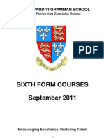 Sixth Form Option Booklet 2011