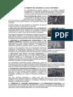 ACCIONES PARA FOMENTO DEL DESARROLLO LOCAL SOSTENIBLE