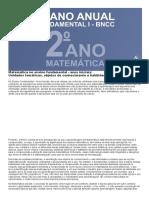 Planejamento Anual de matemática 2 ano do fundamental de acordo com a BNCC 2020