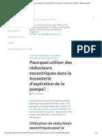 Pourquoi utiliser des réducteurs excentriques dans la tuyauterie d'aspiration de la pompe_ - EnggCyclopedia.pdf