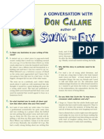 Swim the Fly by Don Calame - Q&A with author