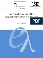 RASTOVIC - Kants Understanding of the Imagination in Critique of Pure Reason