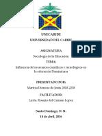 AVANCES TECNOLÓGICOS EN LA EDUCACIÓN DOMINICANA