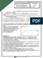 Devoir de Contrôle N°1 - Physique - Bac Sciences exp (2018-2019) Mr Zwidi Walid